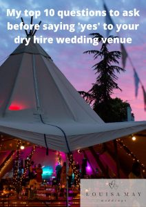 Pin it my top 10 questions to ask before saying 'yes' to your dry hire wedding venue